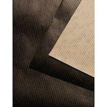 Kraft bi-face vergé rame 25F 50x65cm 90g - marron/noir - Lot de 2