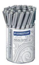 Staedtler Marqueur permanent Metallic, présentoir 30, argent