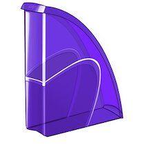 Cep Porte-revues HAPPY, format A4, violet - Lot de 10