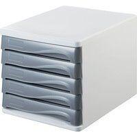 Module de classement 'the wave', 5 tiroirs, blanc/vert