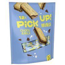 Barre de biscuits 'PiCK UP! Choco & Lait minis' - Lot de 4