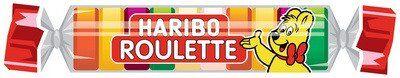 Haribo Bonbon gélifié aux fruits ROULETTE en rouleau, 25 g - Lot de 60