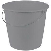 Keeeper Seau de ménage 'erik', rond, 10 litres, gris - Lot de 6