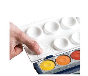Boîte de peinture standard d´école K12, 12 couleurs - Lot de 2