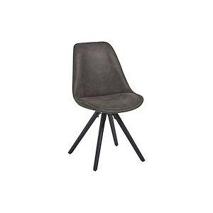 Chaise de bureau LARS noire - piètement bois - Publicité