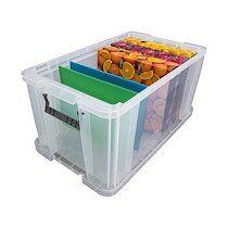 Allstore Boîte de rangement plastique 54 L incolore