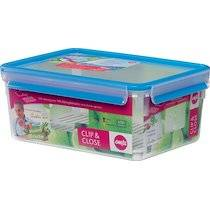 Emsa Boîte de conservation CLIP & CLOSE, 3,70 l, transparent - Lot de 2