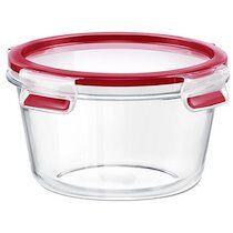Emsa Boîte de conservation CLIP & CLOSE verre, rond, 0,90 L - Lot de 2