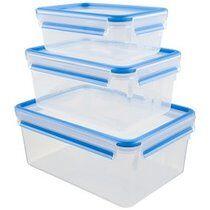 Emsa Boîte de conservation CLIP & CLOSE, set de 3, assorti