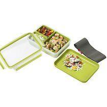 Emsa Lunchbox CLIP & GO, 1,20 litres, transparent / vert - Lot de 2
