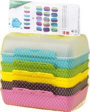 Emsa Boîte à tartine VARIABOLO Clipbox, set 6 pièces, coloré - Lot de 3