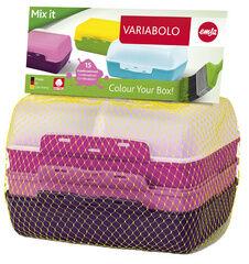 Emsa Boîte à tartine VARIABOLO Clipbox, filles, 4 pièces - Lot de 3