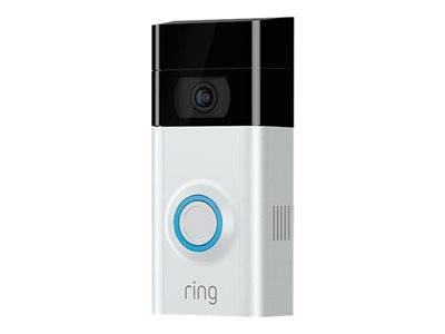 Ring Video Doorbell 2 - Caméra de sonnette - sans fil - nickel satin