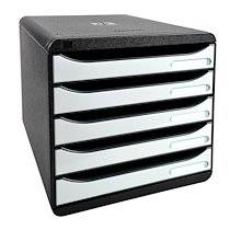 Exacompta Module de classement BIG-BOX PLUS, 5 tiroirs,blanc
