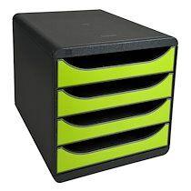 Exacompta Module de classement BIG-BOX, 4 tiroirs, vert