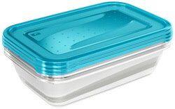Keeeper Boîte de conservation 'fredo fresh', 3,3 L, bleu - Lot de 3