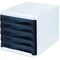 Module de classement 'the wave', 5 tiroirs, blanc/bleu