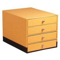 Rhodia Module de classement, en similicuir, 4 tiroirs,orange