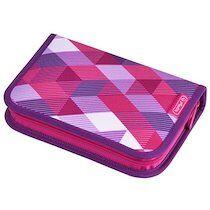 Herlitz Etui scolaire 'Pink Cubes', en polyester - Lot de 2