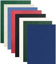 Pavo Plats de couverture, grain cuir, A4, assorti - Lot de 3