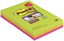 Post-it Bloc-note Super Sticky Notes, ligné, 101 x 152 mm - Lot de 4