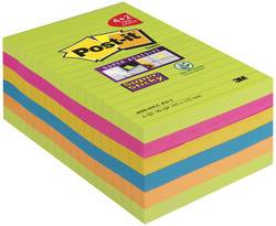 Post-it Bloc-note Super Sticky Notes, 101 x 152 mm, ligné - Lot de 2