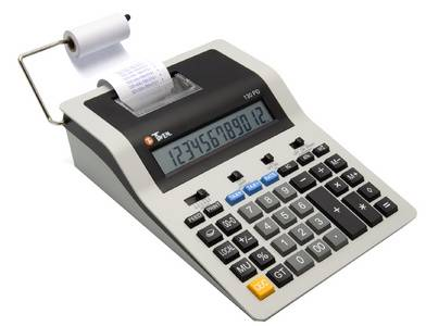 Calculatrice imprimante 130 PD, gris / noir