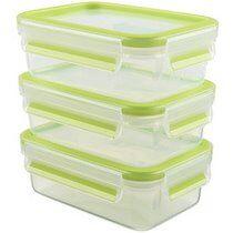 Emsa Boîte de conservation CLIP & CLOSE kit de 3, 0,55 l - Lot de 2