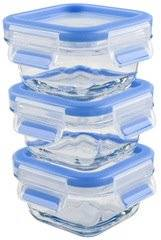 Emsa Boîte de conservation CLIP & CLOSE verre, set de 3 - Lot de 2