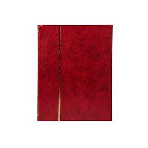 Exacompta Album de timbres simili-cuir 64 pages noires - 22,5x30,5 cm - Rouge - Publicité