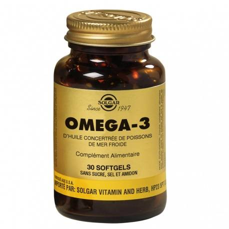 Solgar - Omega 3 Concentré D'Huile de Poisson - 30 Softgels