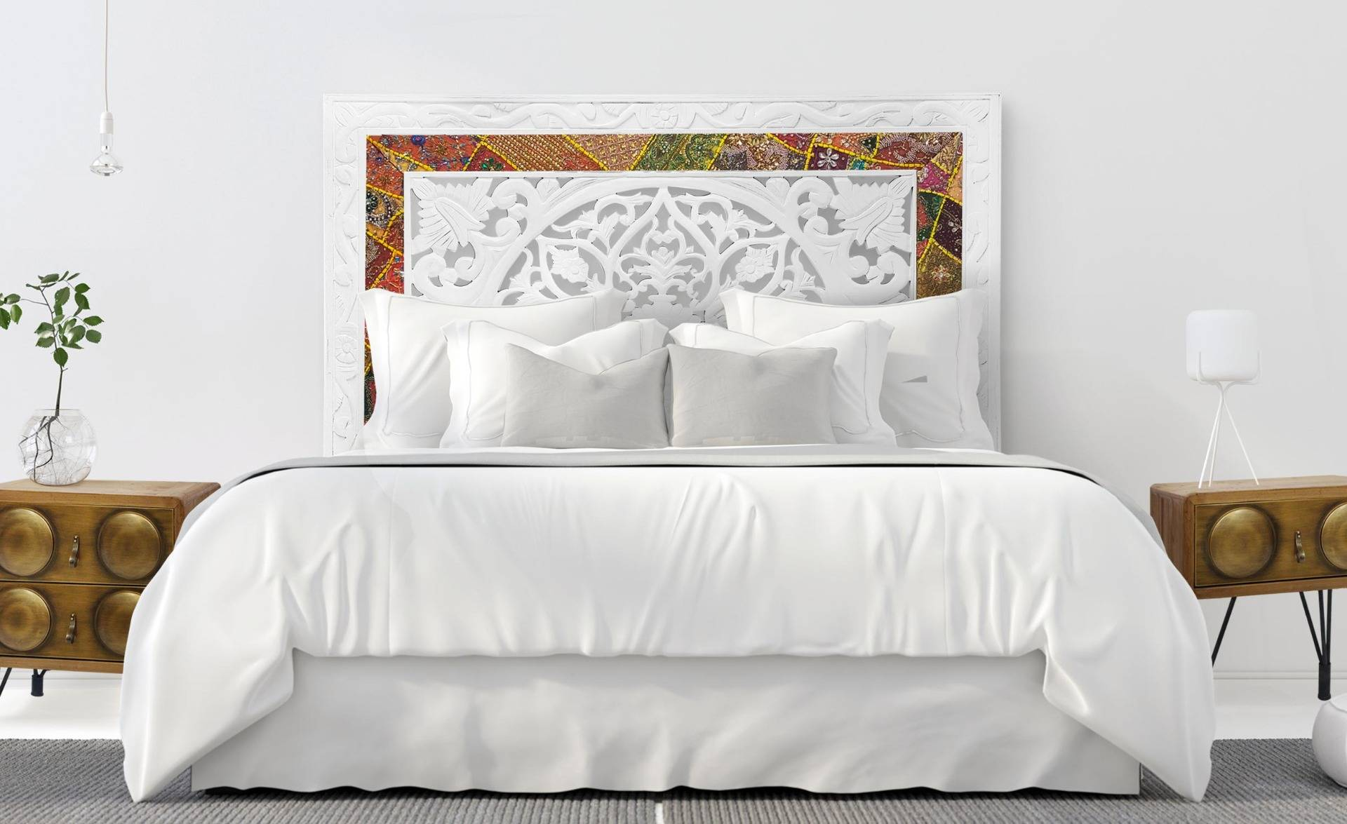 MENZZO Tête de lit Koutoubia Indienne 160cm Blanc