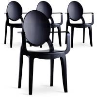 MENZZO Lot de 4 chaises Sofiane Polycarbonate Noir fumé <br /><b>299 EUR</b> Menzzo