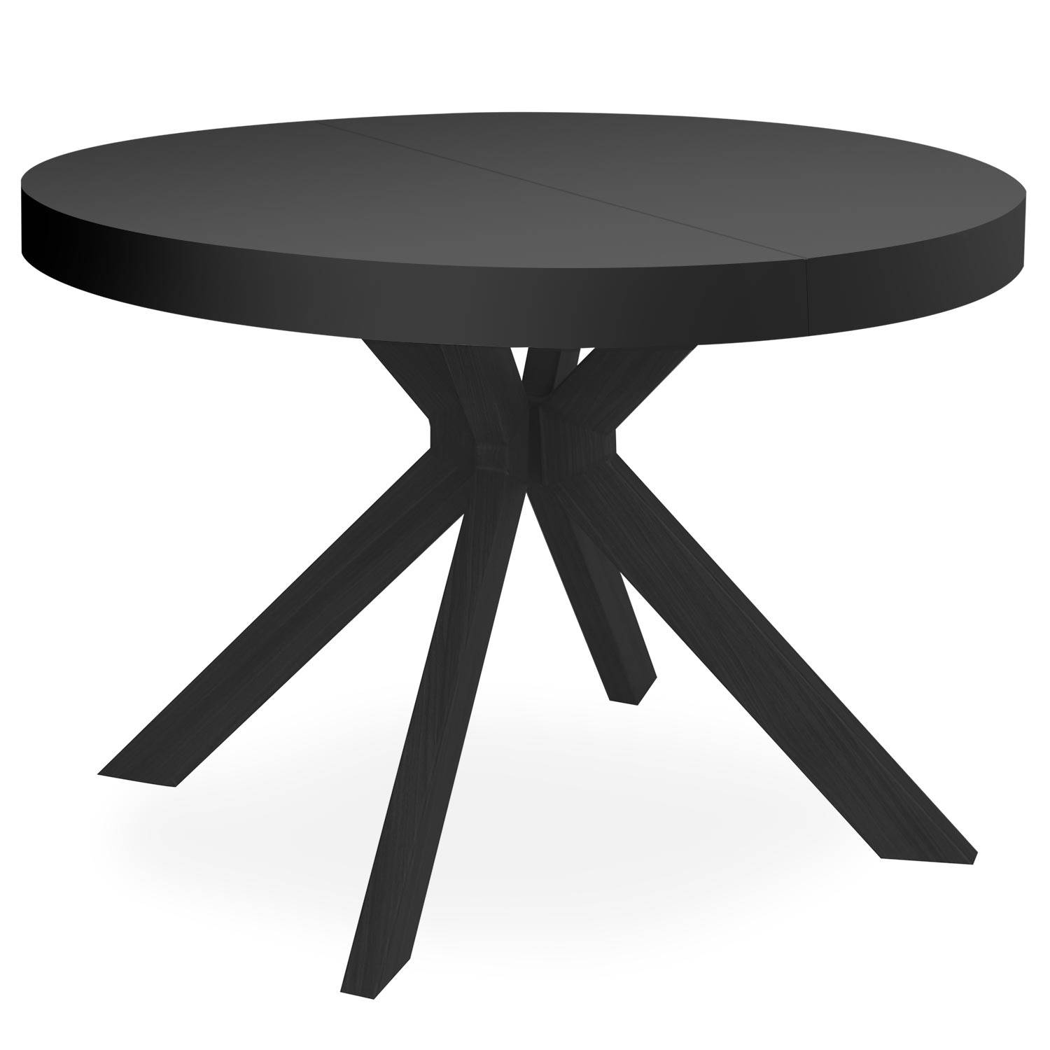 MENZZO Table ronde extensible Myriade All Black