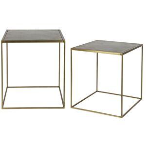 Miliboo Tables gigognes design métal laiton (lot de 2) ERINE - Publicité