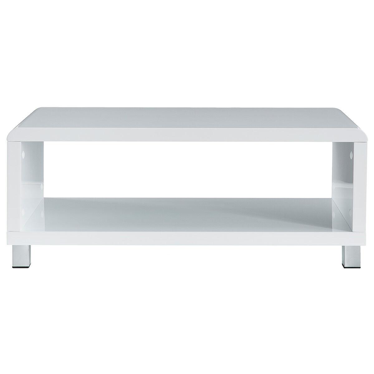 Miliboo Table basse design laquée blanche ROXY