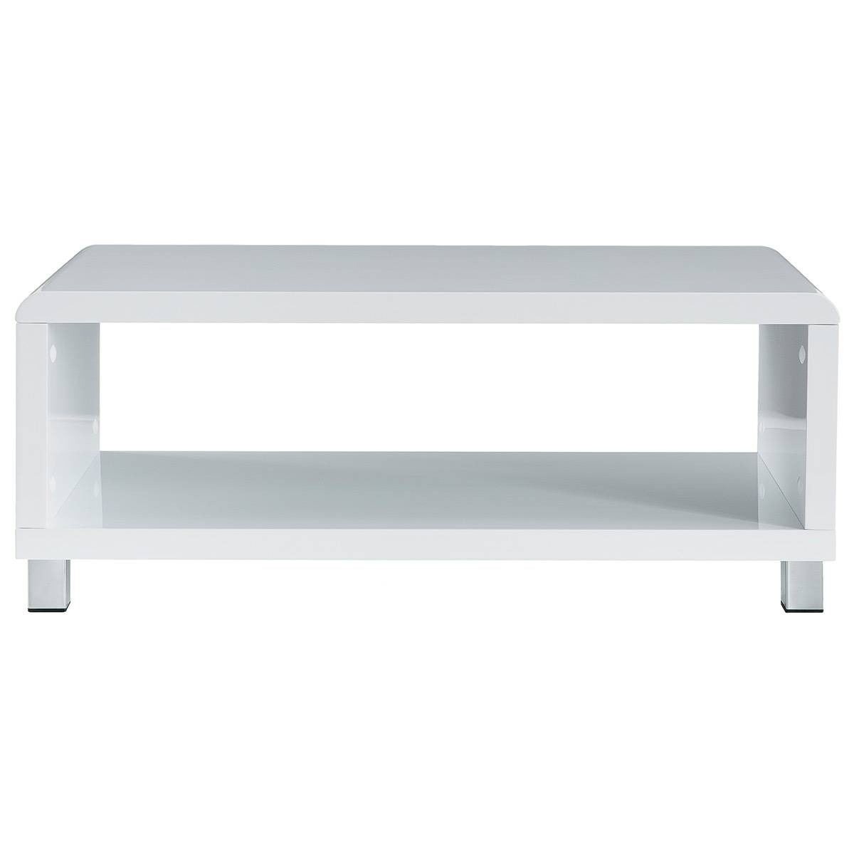 Miliboo Table basse design laquée blanche ROXY