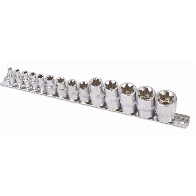 Laser 14 Douilles Torx T4-t24 Carrés 1/2'', 1/4'' Et 3/8'' Laser 5303