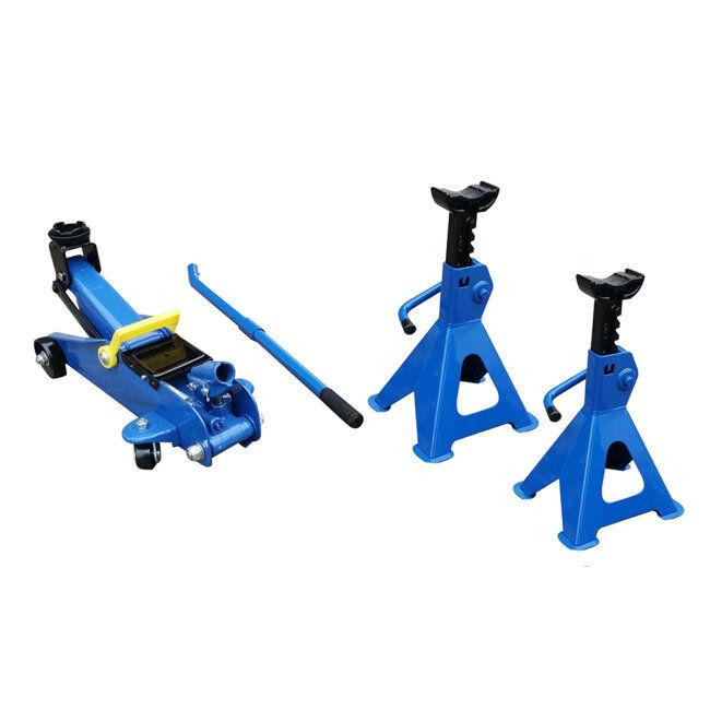 Norauto Cric Hydraulique Rouleur 1,8 T + 2 Chandelles 2 T