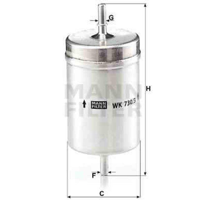 Mann Filtre À Carburant Mann-filter Wk730/3