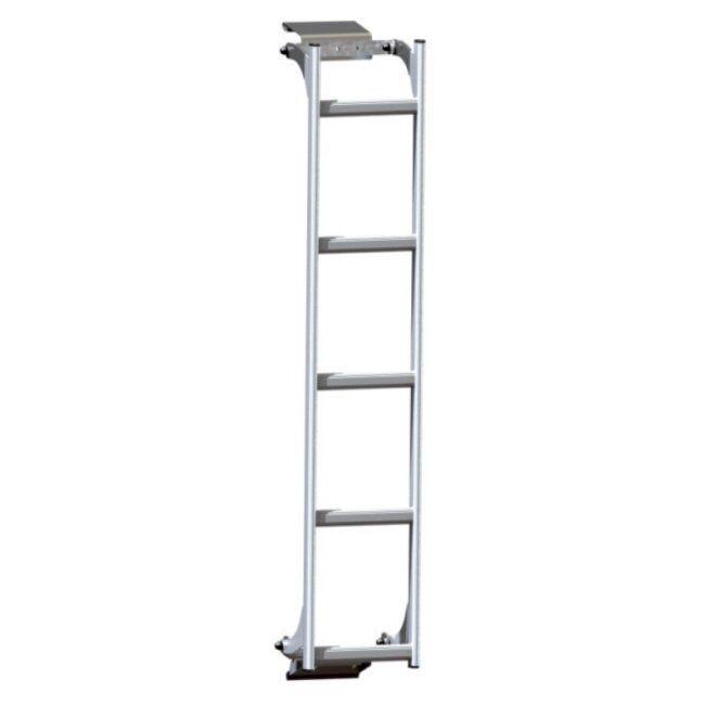 M.t.s. Echelle Fixe Aluminium Sur Porte Droite