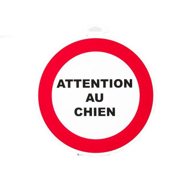 Norauto 1 Disque Attention Au Chien Ø 18 Cm En Pvc À Fixer
