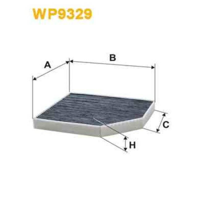 Wix Filtre D'habitacle Charbon Actif Wix Filters Wp9329