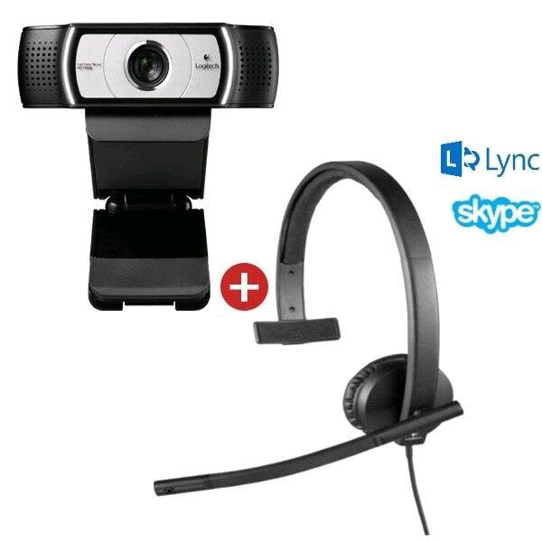 Logitech Pack vidéo conférence Logitech H570E mono + Caméra Logitech C930E