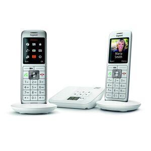 Siemens Téléphone fixe avec répondeur Gigaset CL660A Duo Blanc - Publicité