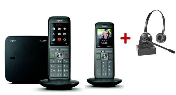 Siemens Pack Gigaset CL660 Duo + Casque sans fil