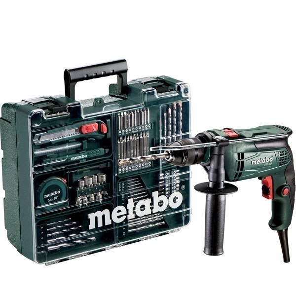 Metabo Set perceuse à percussion SBE 650 + 79 accessoires