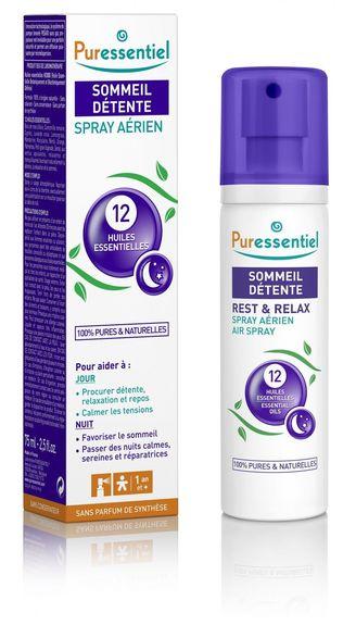 PURESSENTIEL SOMMEIL Spray aux 12 huiles essentielles HEBBD 75ml ? Procurer détente, relaxation et repos? Calmer les tensions, favoriser le sommeil? Passer des nuits calmes, sereines et réparatrices