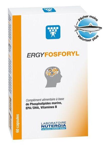 nutergia Ergyfosforyl 60 capsules Nutergia Complément alimentaire à base de phospholipides marins, EPA, DHA, vitamines B.