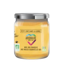 Aromade miel bio petit chat dans la gorge 120g Pour un hiver au poil !